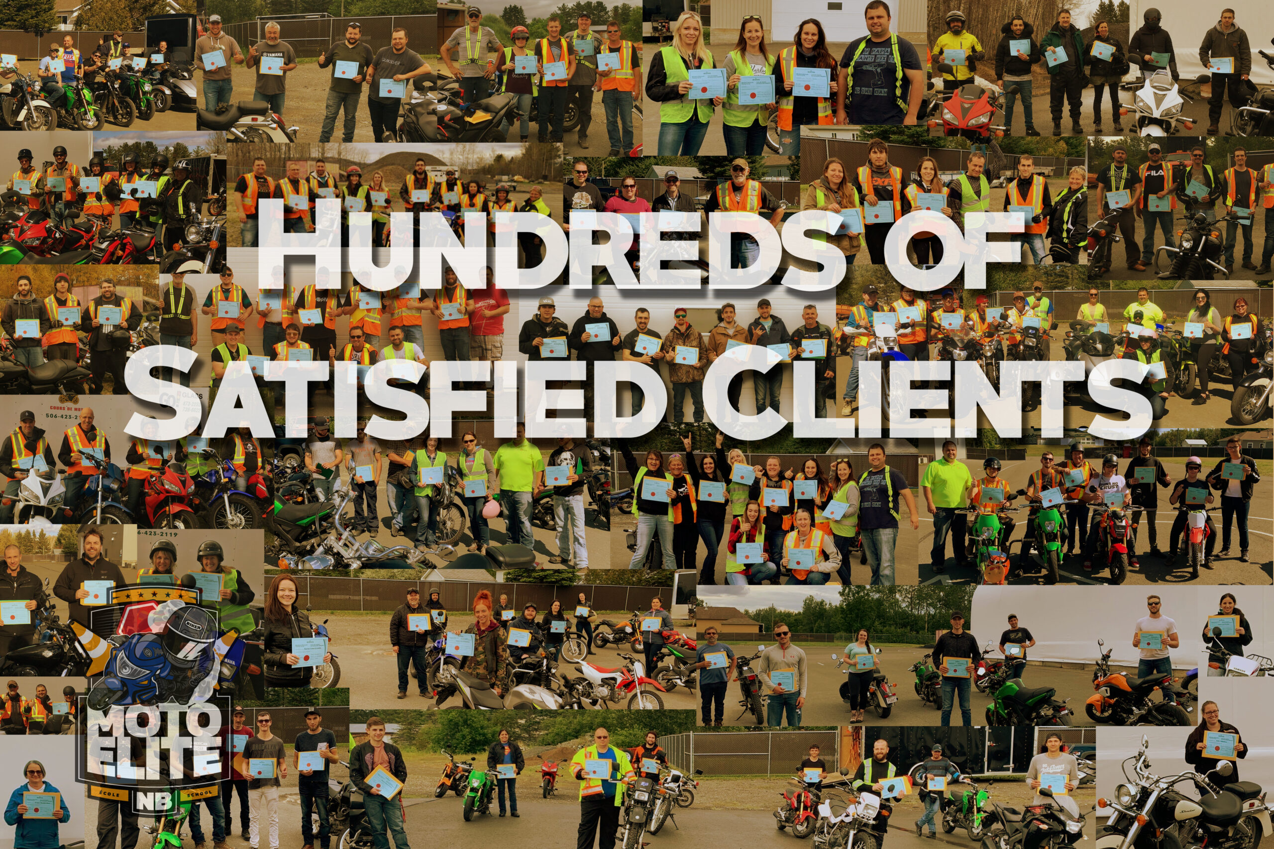 Hundreds of satisfied clients
